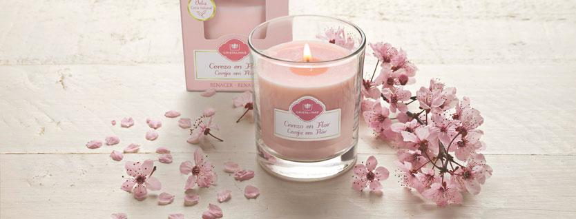 Cristalinas velas aromáticas